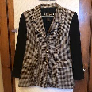 ESCADA Vintage Black and White Wool/Silk  Jacket